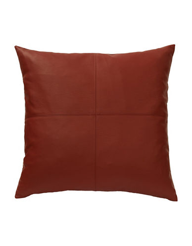 Commonwealth Home Fashions San Franciso Faux Leather Cushion-RED-One Size