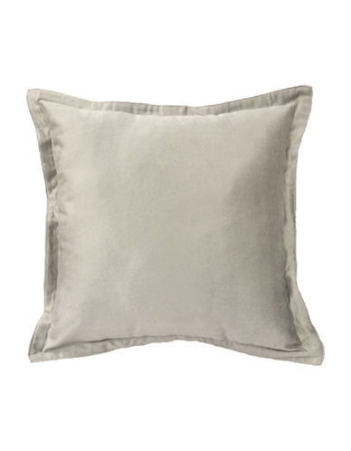 Commonwealth Home Fashions Chantelle Flanged Cushion-SILVER-One Size