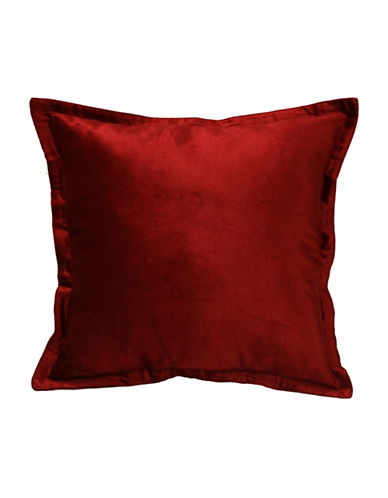 Commonwealth Home Fashions Chantelle Flanged Cushion-RED-One Size