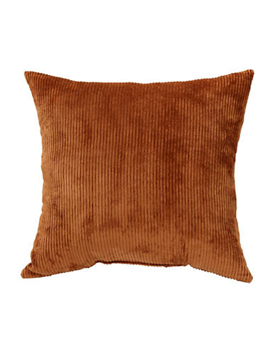 Commonwealth Home Fashions Jessy Ribbed Corduroy Cushion-ORANGE-One Size