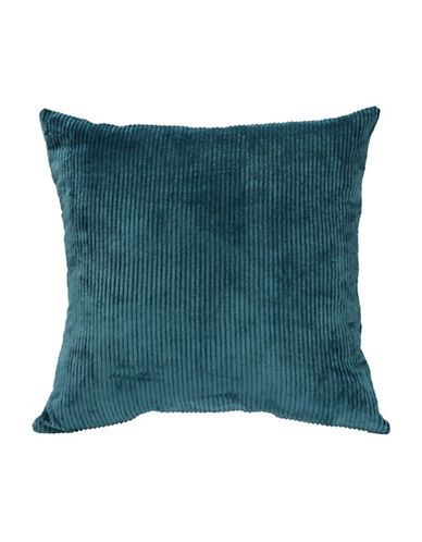 Commonwealth Home Fashions Jessy Ribbed Corduroy Cushion-TEAL-One Size