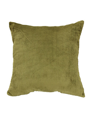Commonwealth Home Fashions Jessy Ribbed Corduroy Cushion-GREEN-One Size