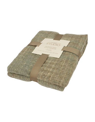 Commonwealth Home Fashions Faux Mohair Throw-GREEN-One Size