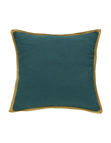 Commonwealth Home Fashions Jute Trim Cushion-TEAL-One Size