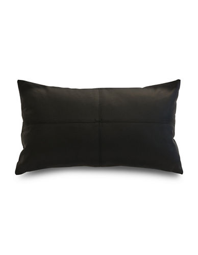 Commonwealth Home Fashions San Francisco Faux Leather Cushion-BLACK-One Size