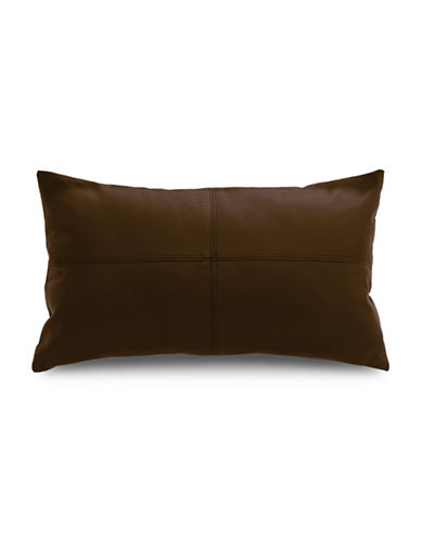 Commonwealth Home Fashions San Francisco Faux Leather Cushion-BROWN-One Size