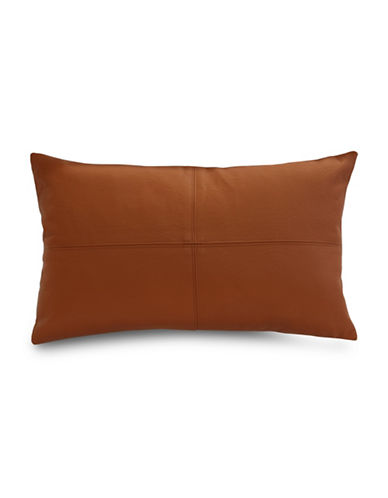 Commonwealth Home Fashions San Francisco Faux Leather Cushion-COGNAC-One Size