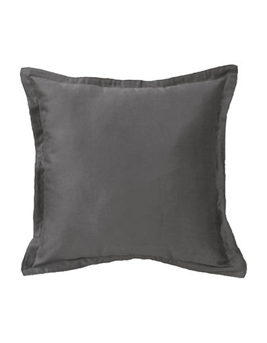 Commonwealth Home Fashions Chantelle Flanged Cushion-DARK GREY-One Size