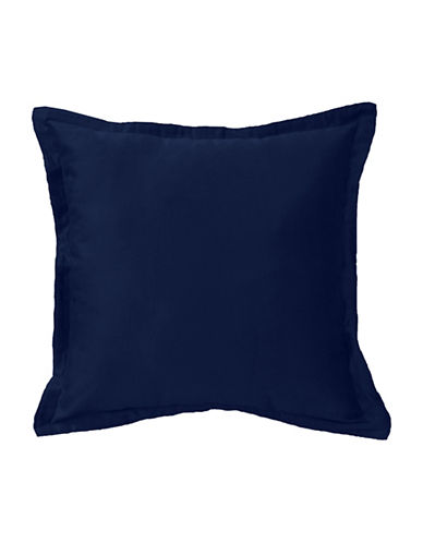 Commonwealth Home Fashions Chantelle Flanged Cushion-NAVY-One Size