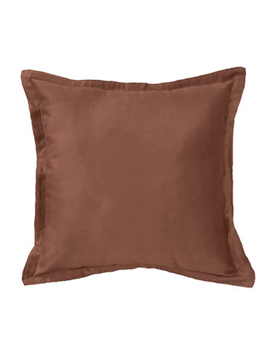 Commonwealth Home Fashions Chantelle Flanged Cushion-BROWN-One Size