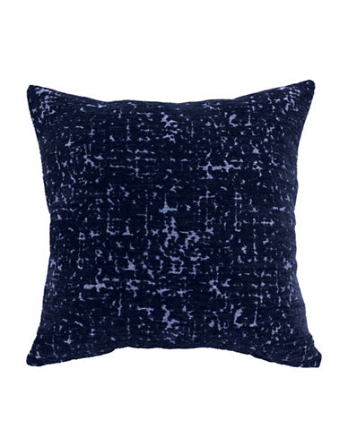 Commonwealth Home Fashions Marbleized Chenille Cushion-NAVY-One Size