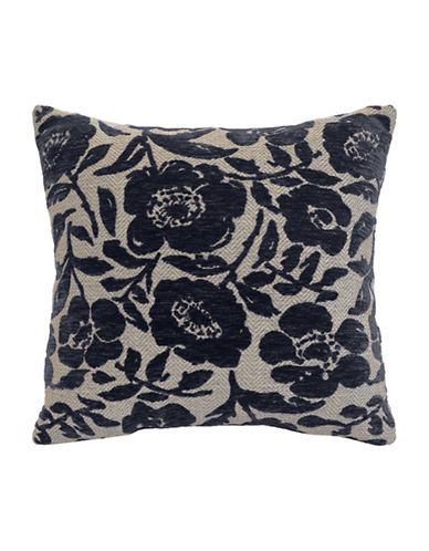 Commonwealth Home Fashions Chenille Floral Cushion-GREY-One Size