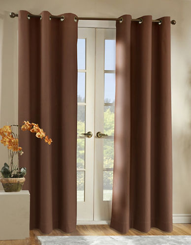 Home Studio Two-Piece Cotton Duck Grommet Panels-CHOCOLATE-63 inches