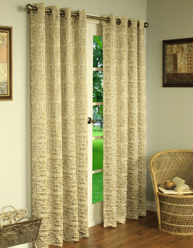Commonwealth Home Fashions Aztec Textured Panel-GOLD-84 inches