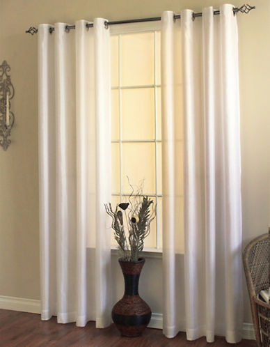 Commonwealth Home Fashions Milano Silk-Look Panel-WHITE-95 inches