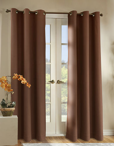 Home Studio Pack of 2 Canvas Window Panels-CHOCOLATE-84 inches