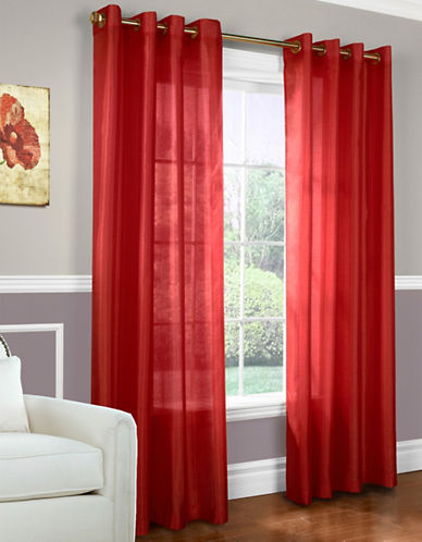 Commonwealth Home Fashions Milano Silk-Look Panel-RED-84 inches