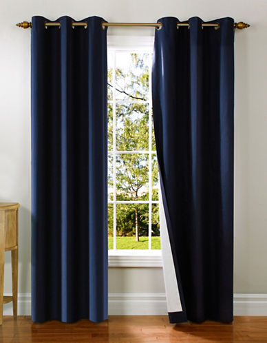 Home Studio Two-Piece Cotton Duck Grommet Panels-NAVY-63 inches
