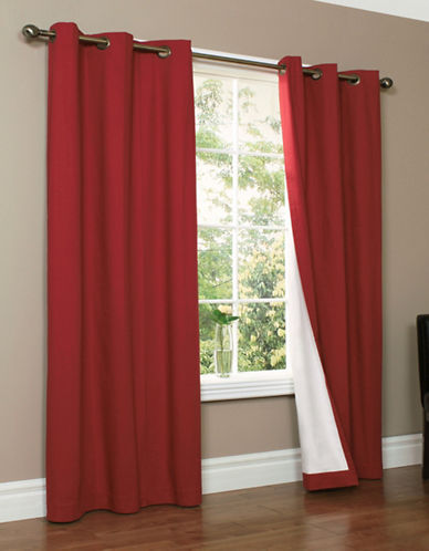 Home Studio Two-Piece Cotton Duck Grommet Panels-BURGUNDY-63 inches
