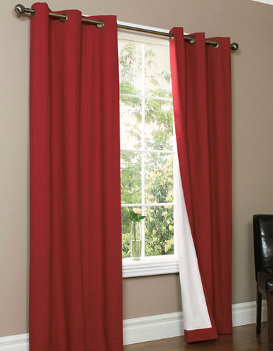 Home Studio Pack of 2 Canvas Window Panels-BURGUNDY-84 inches