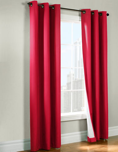 Commonwealth Home Fashions Andy Room Darkening Panel-RED-84 inches