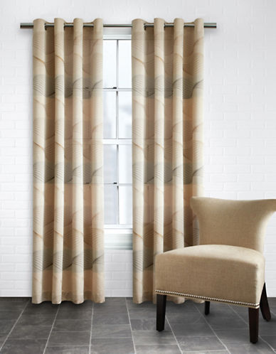 Home Outfitters Swirls Jacquard Curtains-NATURAL-95 inches