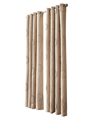 Commonwealth Home Fashions Brooke Printed Panel-BEIGE-84 inches