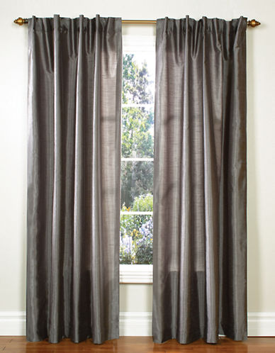 Home Studio Pack of 2 Faux Silk Window Panels-GREY-95 inches