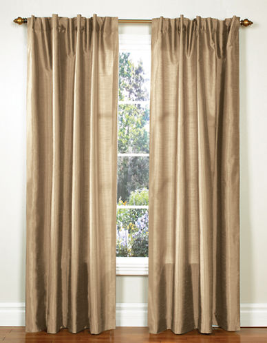 Home Studio Pack of 2 Faux Silk Window Panels-TAUPE-84 inches