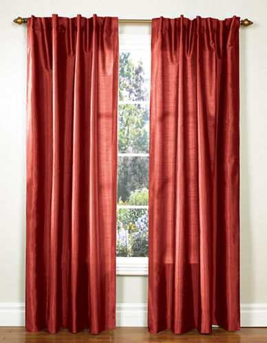 Home Studio Pack of 2 Faux Silk Window Panels-RED-84 inches