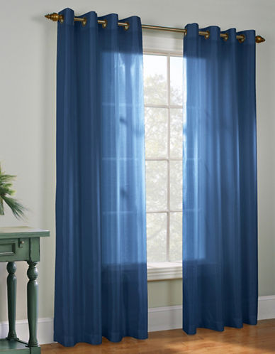 Commonwealth Home Fashions Milano Silk-Look Panel-NAVY-95 inches