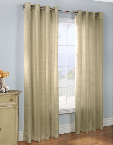 Commonwealth Home Fashions Large Channel Striped Panel-TAUPE-84 inches