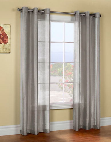 Commonwealth Home Fashions Belvedere Silk-Look Panels-GREY-84 inches