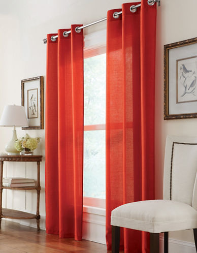 Commonwealth Home Fashions Belvedere Silk-Look Panels-RED-84 inches