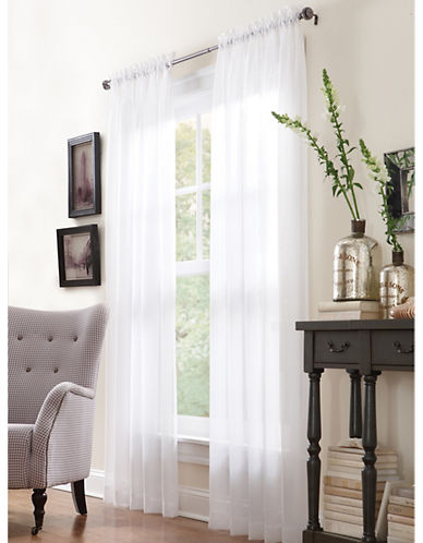 Commonwealth Home Fashions San Marino Sheer Panel-WHITE-95 inches