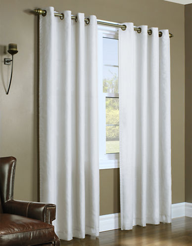 Home Studio Upscale Lined Voile Window Panel-WHITE-84 inches