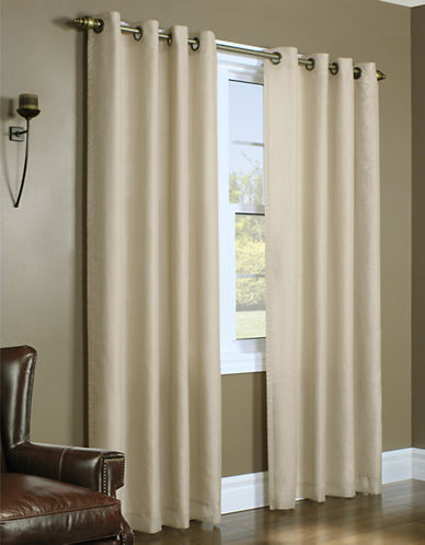 Home Studio Upscale Lined Voile Window Panel-TAUPE-95 inches