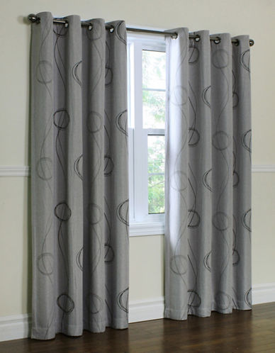 Commonwealth Home Fashions Brooke Printed Panel-GREY-84 inches