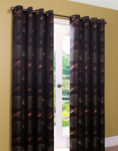 Commonwealth Home Fashions Swirls 84in Window Panel-RED-84 inches