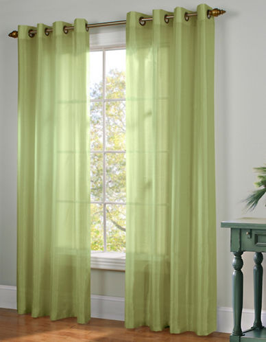 Commonwealth Home Fashions Milano Silk-Look Panel-GREEN-95 inches