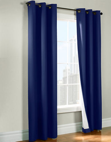 Commonwealth Home Fashions Andy Room Darkening Panel-NAVY-84 inches