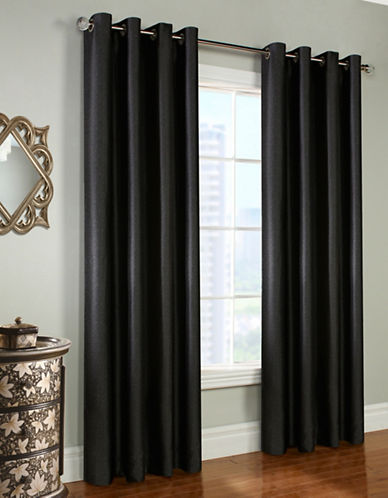 Commonwealth Home Fashions Universe Curtain Panel-BLACK-95 inches