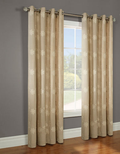 Commonwealth Home Fashions Sofia Linen-Look Panel-IVORY-95 inches