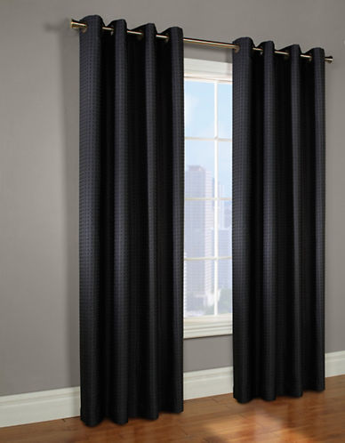 Commonwealth Home Fashions Circular Jacquard Panel-BLACK-95 inches