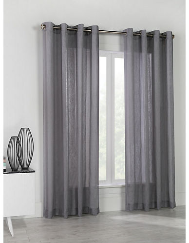 Commonwealth Home Fashions Stella Linen-Look Panel-GREY-95 inches
