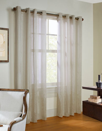 Commonwealth Home Fashions Stella Linen-Look Panel-IVORY-95 inches