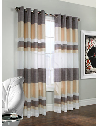 Commonwealth Home Fashions Talia Striped Panel-TAUPE-95 inches