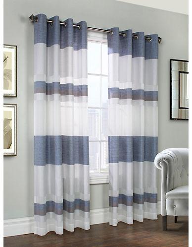 Commonwealth Home Fashions Talia Striped Panel-BLUE-95 inches