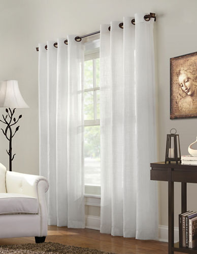 Commonwealth Home Fashions Marlow Striped Panel-WHITE-95 inches