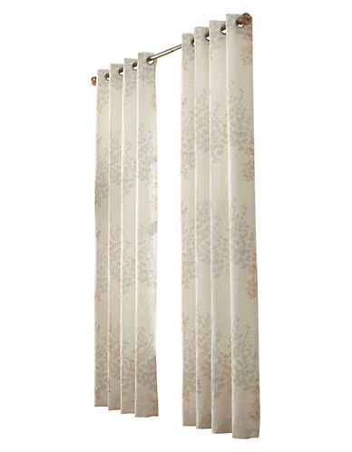 Commonwealth Home Fashions Lana Leaf Print Panel-IVORY-95 inches